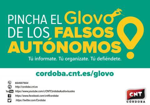 Campaña Pincha El Glovo De Los Falsos Autónomos Cnt Córdoba